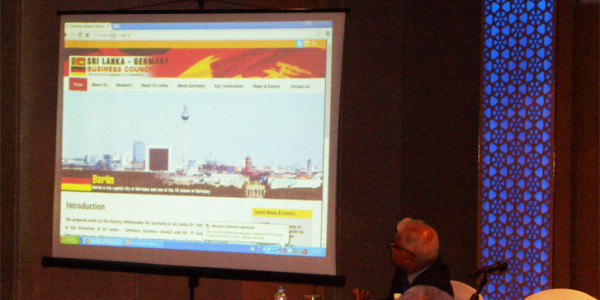 Sri Lanka-German Business Council Website Launch