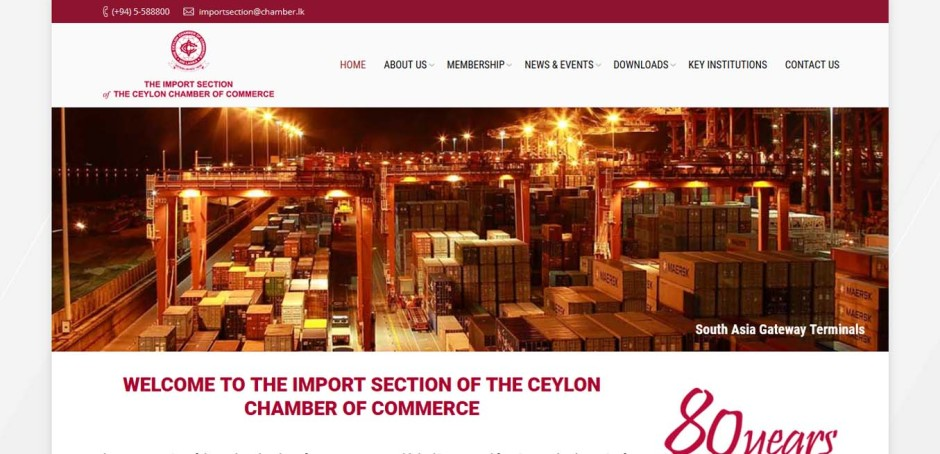 Import Section of the Ceylon Chamber of Commerce